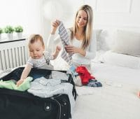 travelling-with-kids-happy-mother