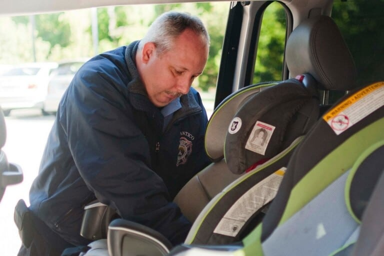 child passenger safety technicians at work